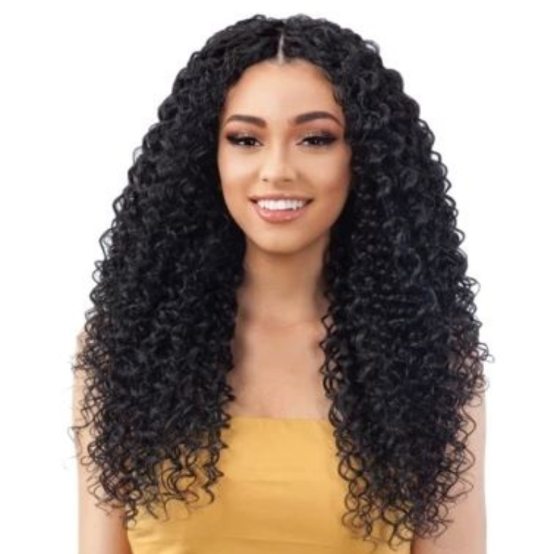 THREE PART WATER CURLY WIG  24 INCH